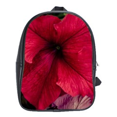 Red Peonies School Bag (XL)