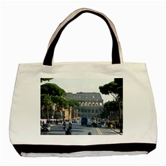 Italy Black and White Tote Bag