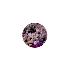 Flying Bumble Bee Mini Button (round)