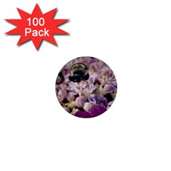 Flying Bumble Bee 100 Pack Mini Button (Round)