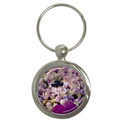 Flying Bumble Bee Key Chain (round)