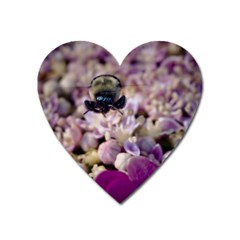 Flying Bumble Bee Large Sticker Magnet (heart)