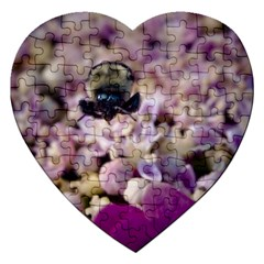 Flying Bumble Bee Jigsaw Puzzle (Heart)