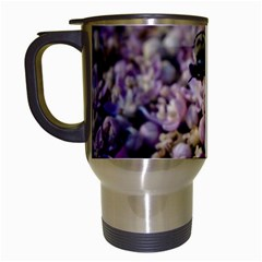 Flying Bumble Bee White Travel Mug