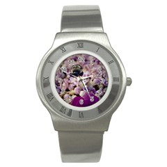 Flying Bumble Bee Stainless Steel Watch (round)