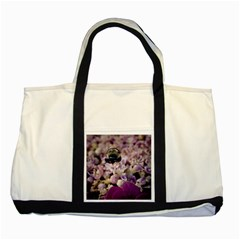 Flying Bumble Bee Two Toned Tote Bag