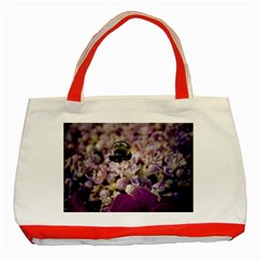 Flying Bumble Bee Red Tote Bag