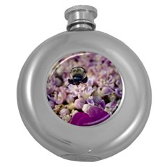 Flying Bumble Bee Hip Flask (Round)