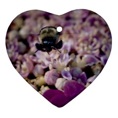 Flying Bumble Bee Heart Ornament (Two Sides)