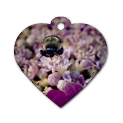 Flying Bumble Bee Single-sided Dog Tag (Heart)