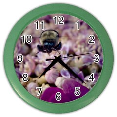 Flying Bumble Bee Colored Wall Clock