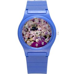 Flying Bumble Bee Round Plastic Sport Watch Small