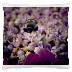 Flying Bumble Bee Large Cushion Case (Two Sides)
