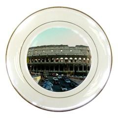 Roman Colisseum Porcelain Display Plate