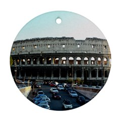 Roman Colisseum Twin-sided Ceramic Ornament (Round)