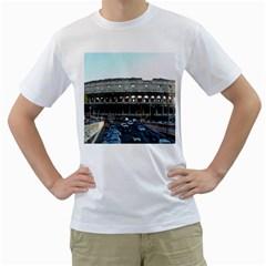 Roman Colisseum White Mens  T-shirt