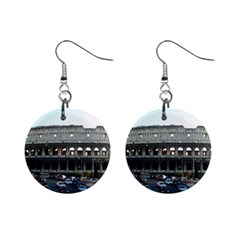 Roman Colisseum Mini Button Earrings