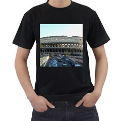 Roman Colisseum Twin Sided Black Mens'' T Shirt
