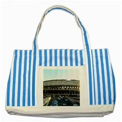 Roman Colisseum Blue Striped Tote Bag