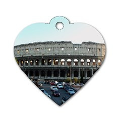 Roman Colisseum Single-sided Dog Tag (Heart)