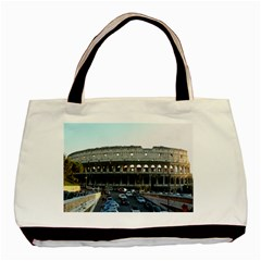 Roman Colisseum Twin Sided Black Tote Bag