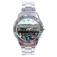 Roman Colisseum Stainless Steel Analogue Watch (Round)