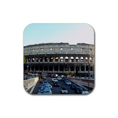 Roman Colisseum 4 Pack Rubber Drinks Coaster (Square)