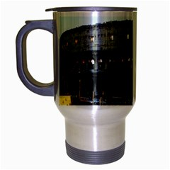 Roman Colisseum Brushed Chrome Travel Mug