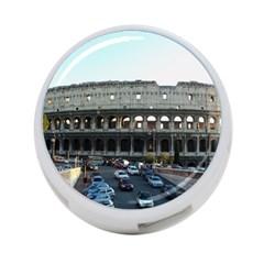 Roman Colisseum Twin-sided 4 Port USB Hub (Round)
