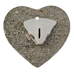 Quarter of a Sand Dollar Ceramic Ornament (Heart)