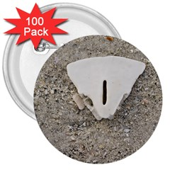 Quarter Of A Sand Dollar 100 Pack Large Button (round)