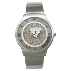 Quarter of a Sand Dollar Stainless Steel Watch (Round)