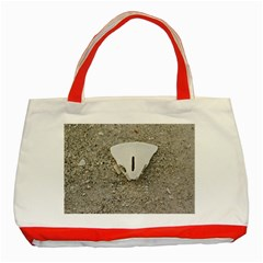 Quarter Of A Sand Dollar Red Tote Bag