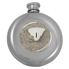 Quarter Of A Sand Dollar Hip Flask (round)