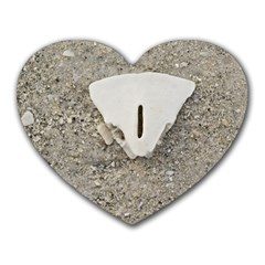 Quarter of a Sand Dollar Mouse Pad (Heart)