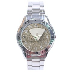 Quarter of a Sand Dollar Stainless Steel Analogue Watch (Round)