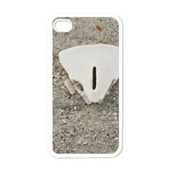Quarter of a Sand Dollar White Apple iPhone 4 Case