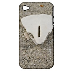 Quarter of a Sand Dollar Apple iPhone 4/4S Hardshell Case (PC+Silicone)