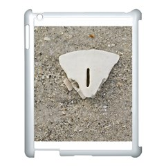 Quarter of a Sand Dollar Apple iPad 3/4 Case (White)