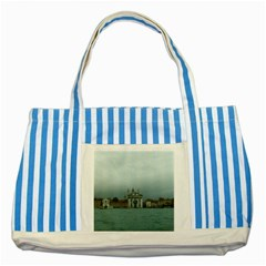 Venice Blue Striped Tote Bag