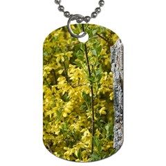 Yellow Bells Twin Sided Dog Tag