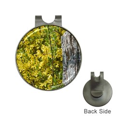 Yellow Bells Hat Clip with Golf Ball Marker