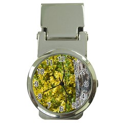 Yellow Bells Chrome Money Clip With Watch