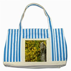 Yellow Bells Blue Striped Tote Bag