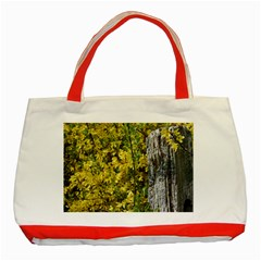 Yellow Bells Red Tote Bag