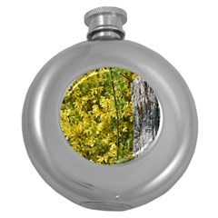 Yellow Bells Hip Flask (round)