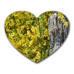 Yellow Bells Mouse Pad (Heart)