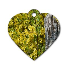 Yellow Bells Single-sided Dog Tag (Heart)
