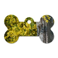 Yellow Bells Single Sided Dog Tag (bone)