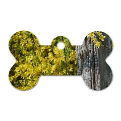 Yellow Bells Twin-sided Dog Tag (Bone)